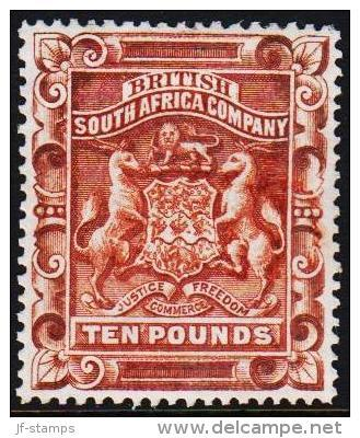 1892 Coat Of Arms (white Figures). TEN POUNDS. Very Rare Stamp.  (Michel: 11) - JF190506 - Briefmarken