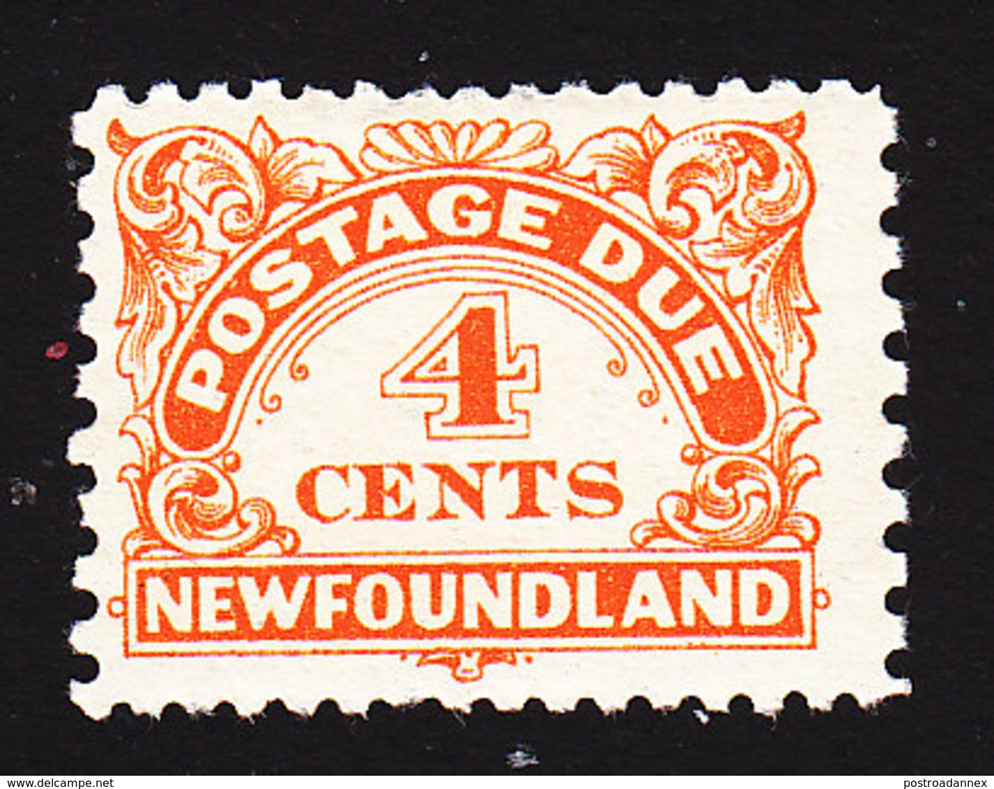 Newfoundland, Scott #J4, Mint Hinged, Postage Due, Issued 1939 - Newfoundland