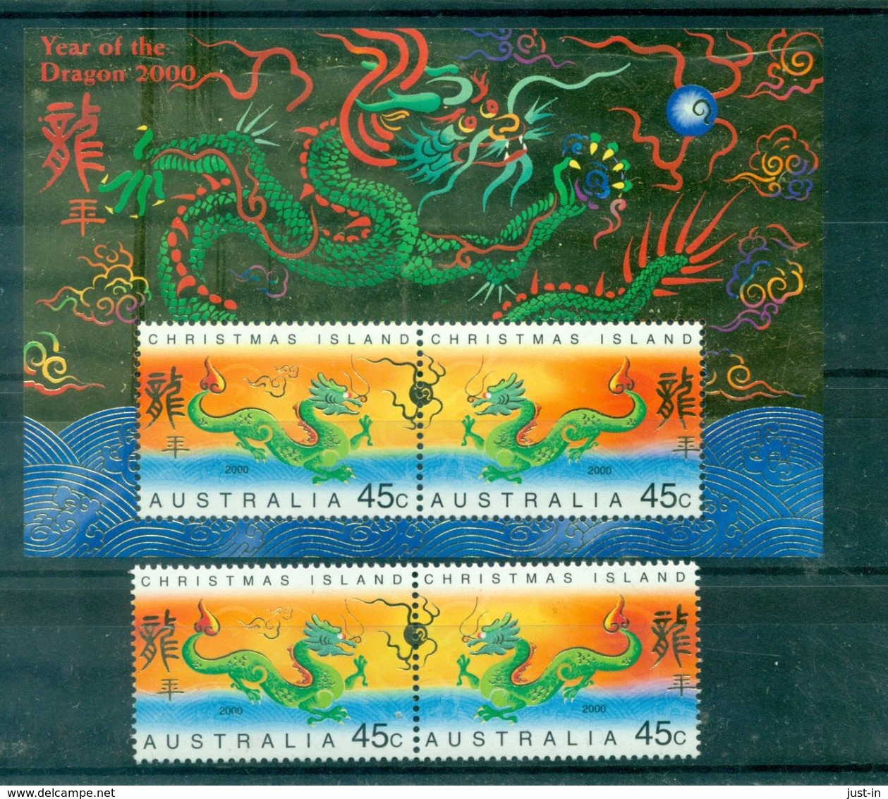AUSTRALIE CHRISTMAS Island 473/4 + Bf 22 Nxx Chine Année Du Dragon Tb - Christmas Island