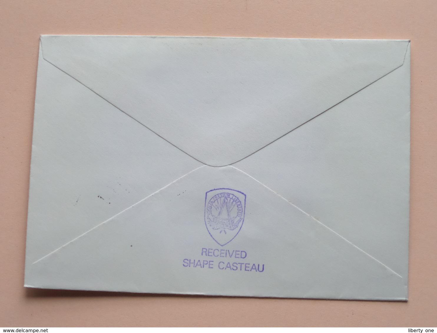 25th Anniversary SHAPE 1951 - 1976 BRITISH FORCES : Stamp 1976 Received SHAPE CASTEAU ( Zie/voir Foto's Voor Details ) - Militaria