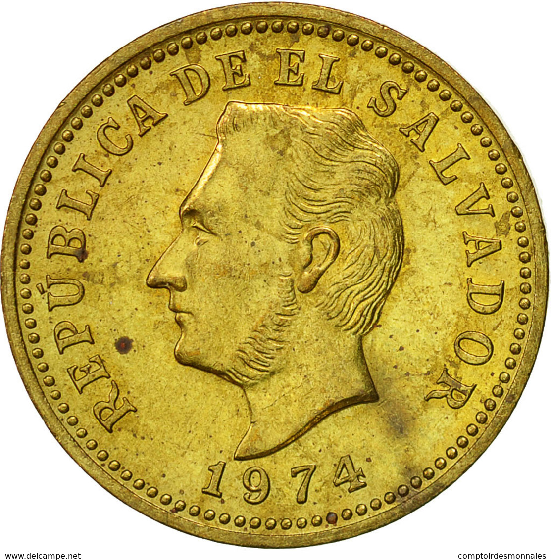 El Salvador, 3 Centavos, 1974, British Royal Mint, England, TTB, Nickel-brass - Salvador