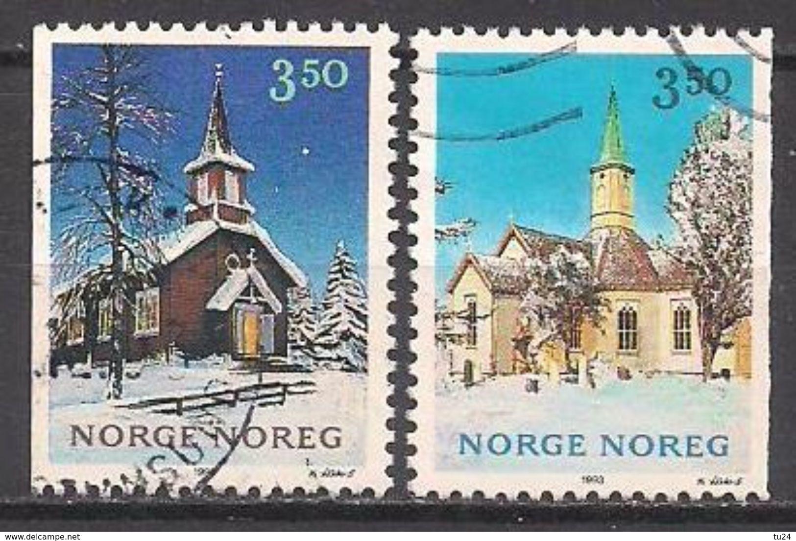 Norwegen  (1993)  Mi.Nr.  1141 + 1142  Gest. / Used  (2ee21) - Norwegen
