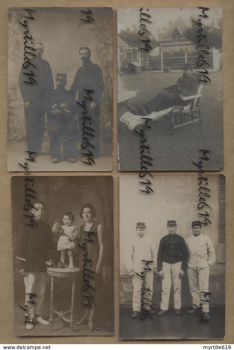 Lot 8 Cartes-Photos - Militaires - Soldats 14-18 - A Identifier - Characters