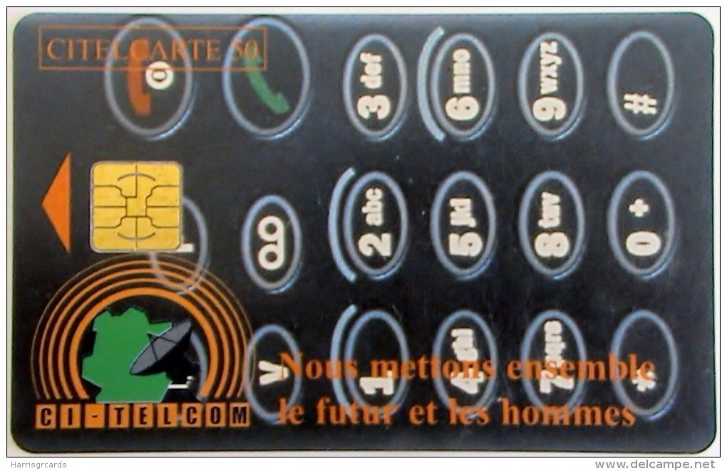 IVORY COAST - Telephone Dial, Chip Delphic, Used - Côte D'Ivoire