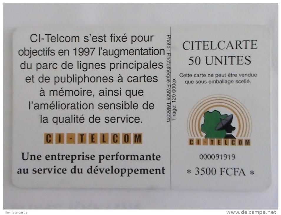 IVORY COAST - Telephone Dial, Chip Delphic, Used - Costa D'Avorio