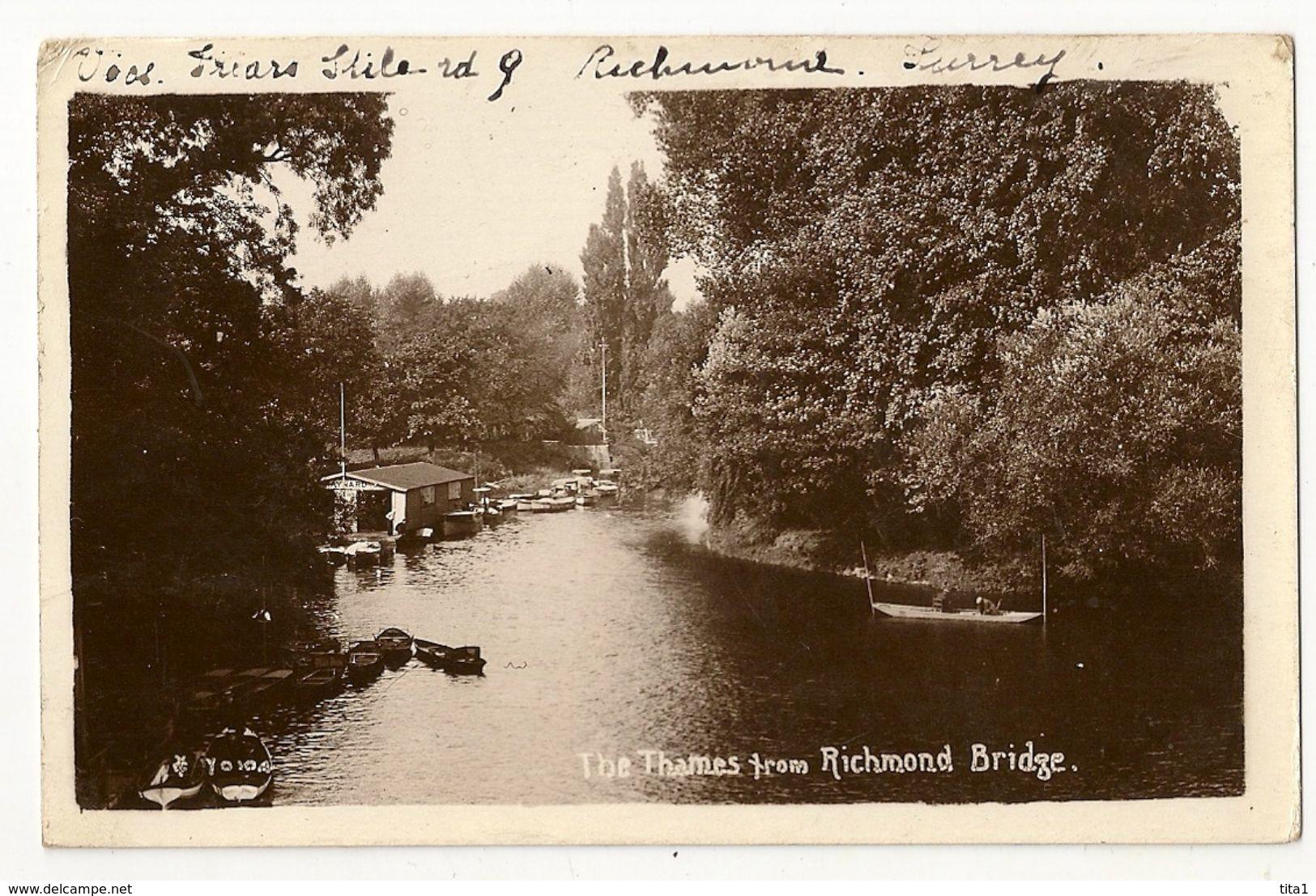 UK 309 - The Thames From Richmond Bridge - London Suburbs