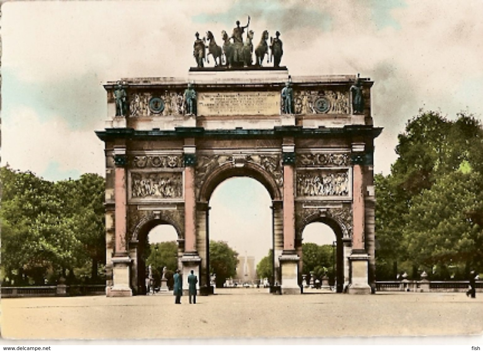 France & Circulated,Paris, Arc De Triomphe Du Carrousel,Ile D'Oleron, Roles De Alienor D'Aquitaine,  Lisboa 1960 (53) - Monumentos