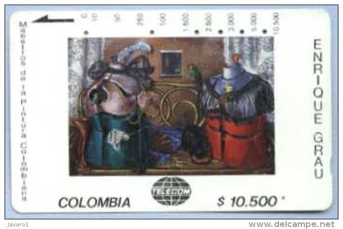 COLOMBIA : COLMT25 $10500 ENRIQUE GRAU 1971 La Visita USED - Colombia