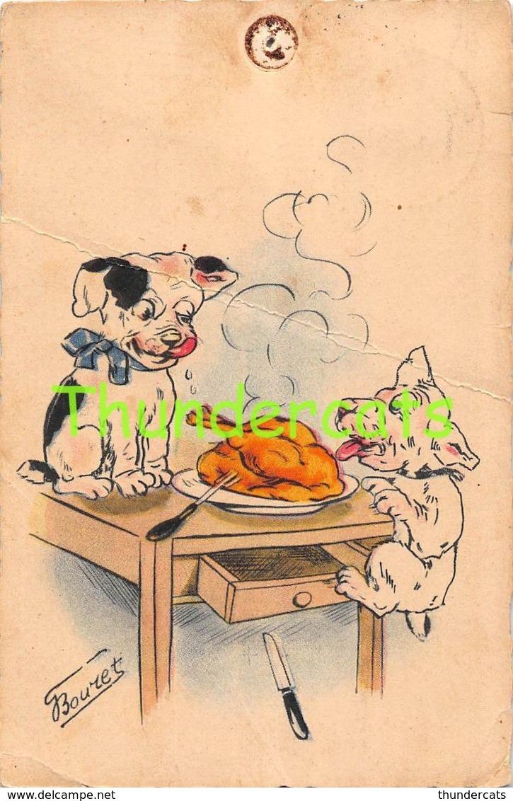 CPA ILLUSTRATEUR  GERMAINE BOURET CHIEN ** ARTIST SIGNED BOURET DOG - Bouret, Germaine