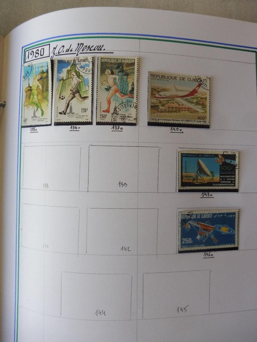 #  Vente Spéciale N°2 - 100% Collection  ! N° 32 / 50  Collection Timbres Djibouti Suez Érythrée Ethiopie 56 Photos - Sammlungen (im Alben)