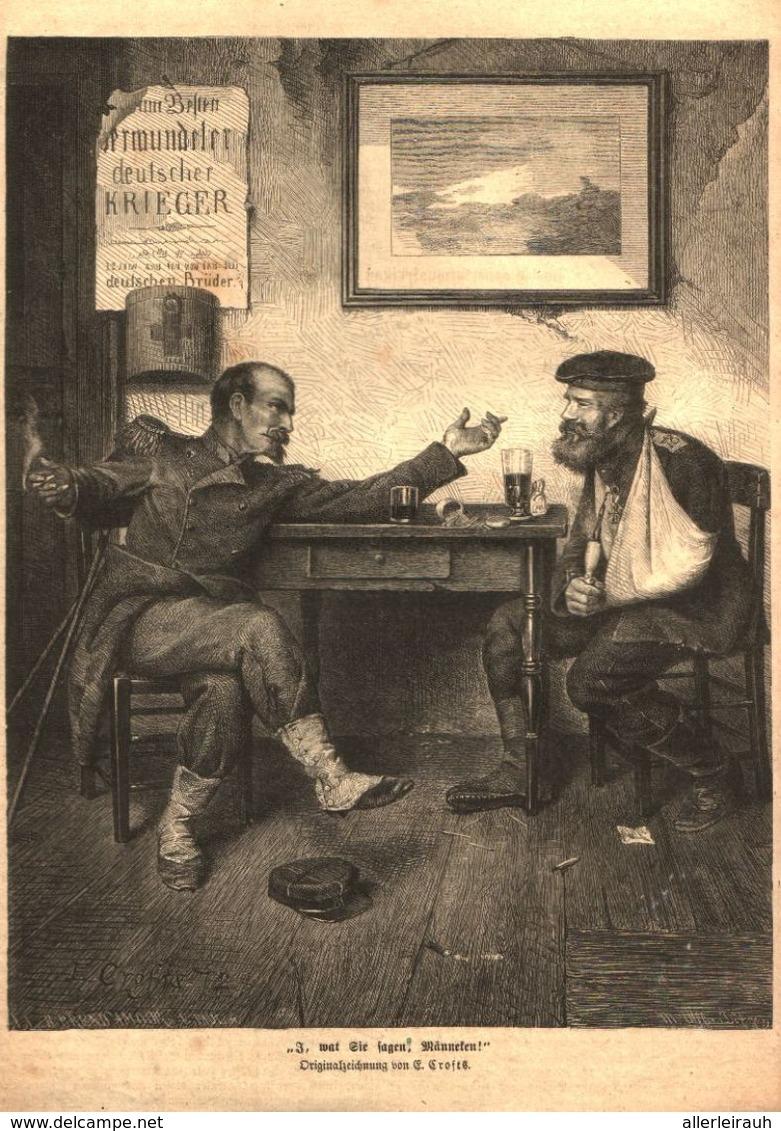 I, Wat Sie Sagen, Männeken! / Druck, Entnommen Aus Zeitschrift  / 1872 - Alte Papiere