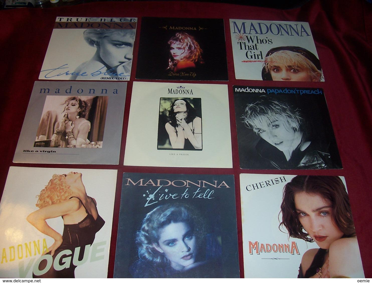 MADONNA  °  LOT DE 9 / 45 TOURS - Collections Complètes