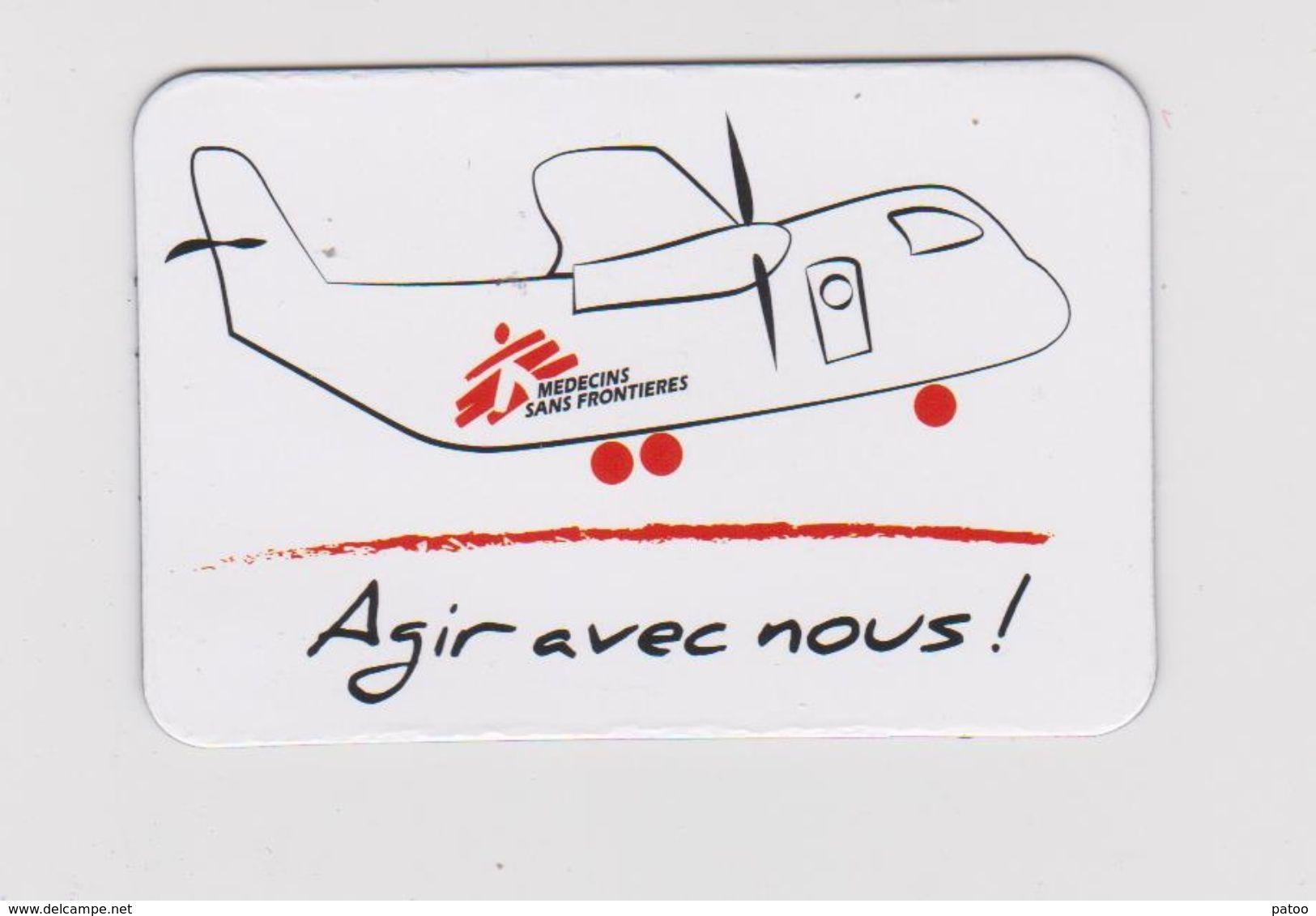 MINI  MAGNET : 6 X4 Cm  /  AVION  (médecins Sans Frontières ) - Transports