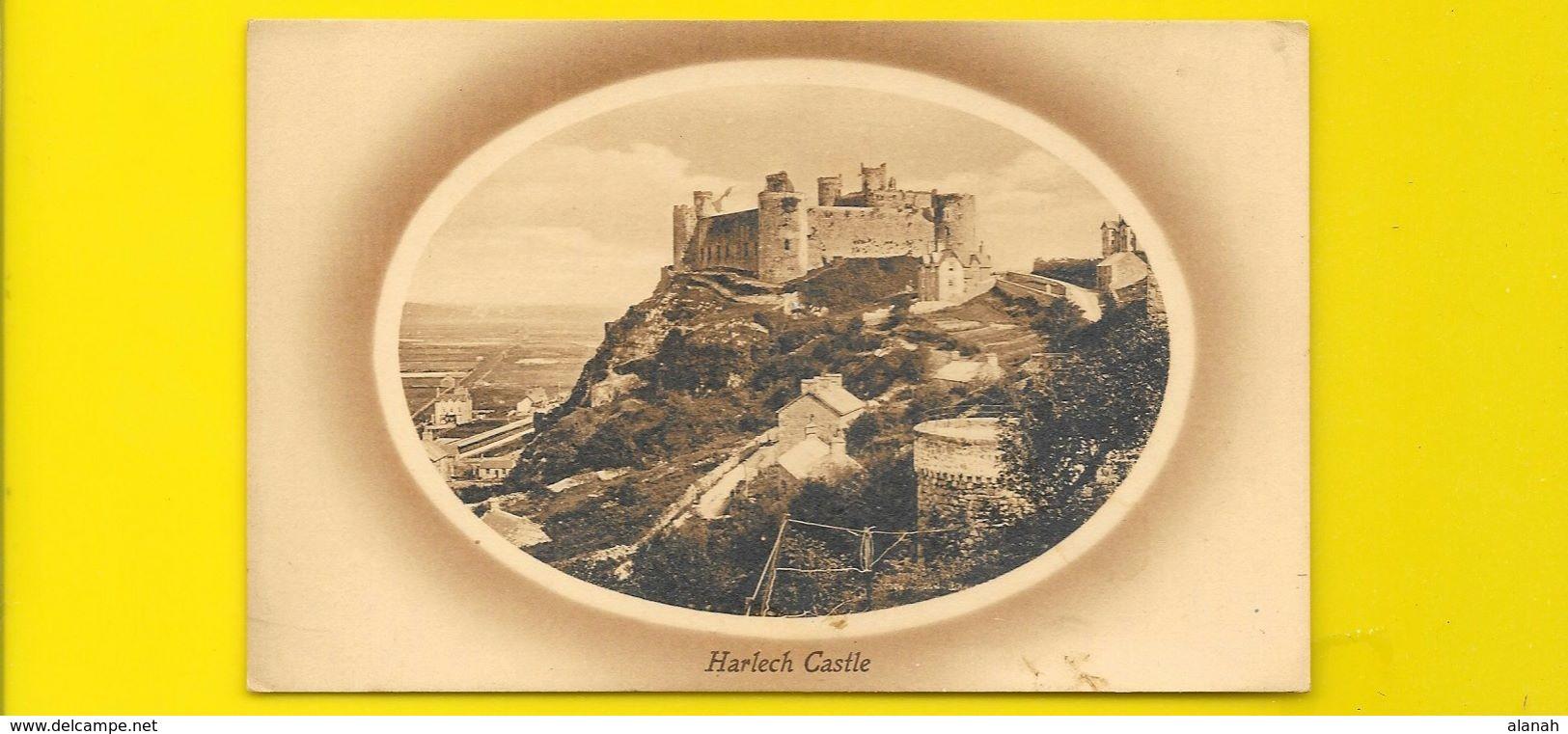 Rare Harlech Castle (Valentine's) Pays De Galles UK - Pays De Galles