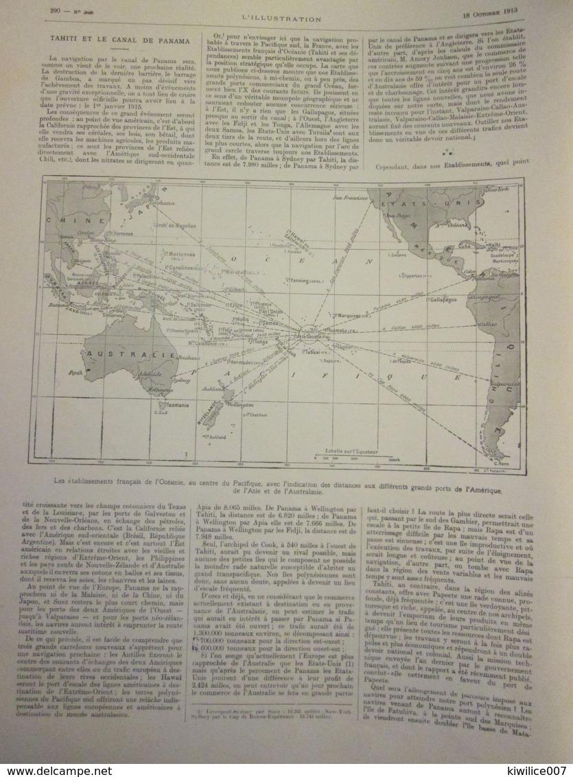 1913  Tahiti Et Le Canal De Panama  Papeete   Moorea Canal De  GAMBOA CULEBRA - Vieux Papiers