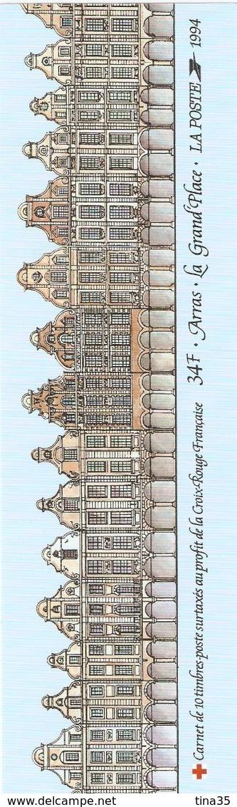 1994 - ARRAS. La Grand'Place (10 Timbres De 2,80 + 0,60) - Neuf - Carnets