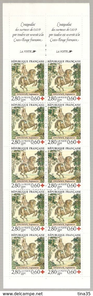 1995 - SAUMUR - (10 Timbres De 2,80 + 0,60) - Neuf - Croix Rouge