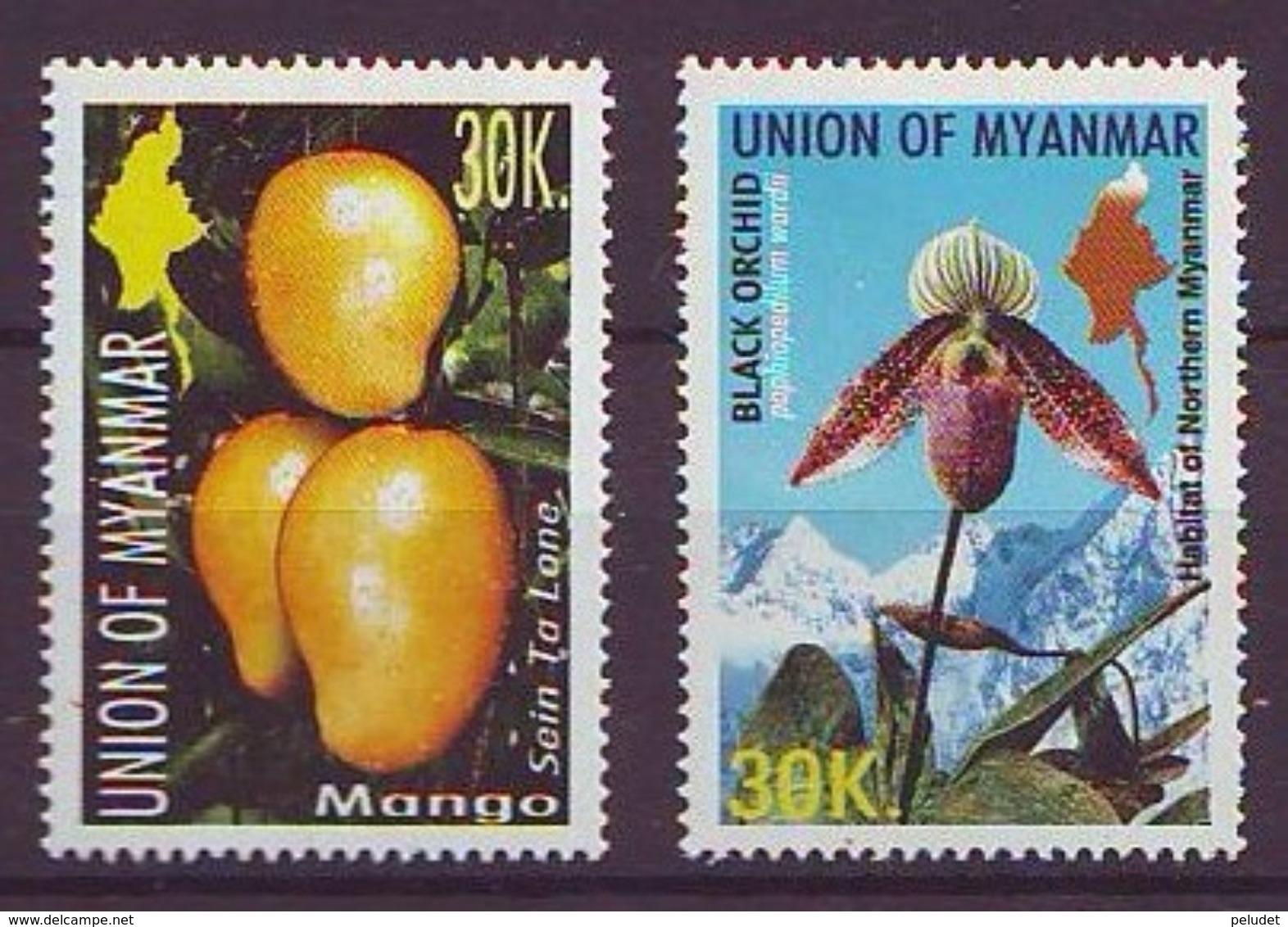 Myanmar - 2004, Flora - Mango - Black Orquid 2v - Mnh - Myanmar (Burma 1948-...)