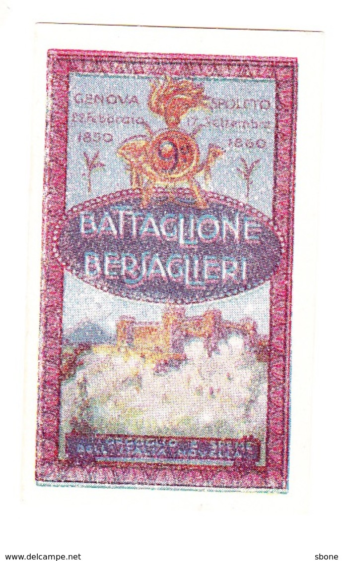 Vignette Militaire Delandre - Italie - 9ème Battaglione Bersaglieri - Vignettes Militaires
