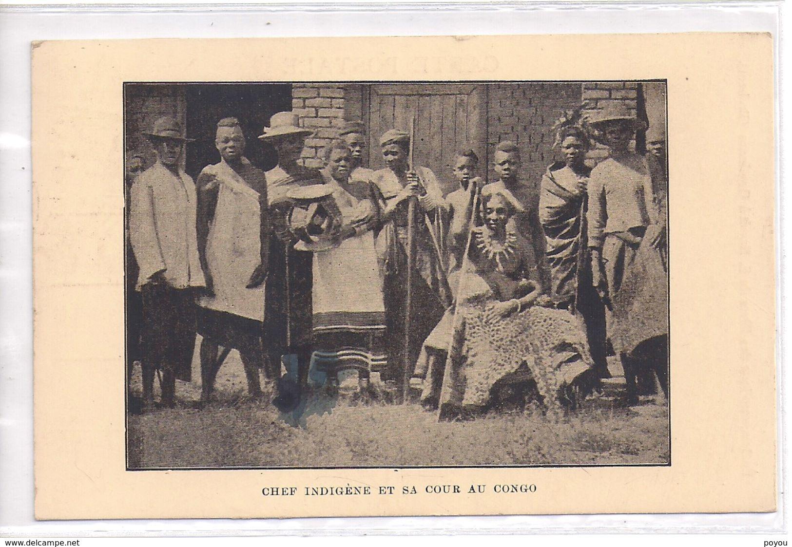 Congo Chef Indigene Et Sa Cour  *TOUT A 2€ VOIR DESCRIPTION, BOUTIQUE* - Belgian Congo - Other