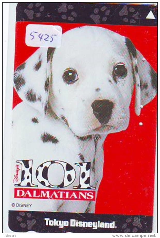 Télécarte Japon * 110-186019 * DISNEY  * 101 DALMATIENS (5425) CHIEN * DOG * Japan Phonecard TELEFONKARTE - Disney