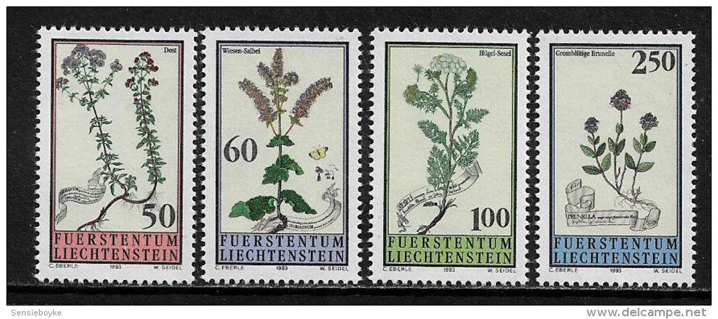 K14287- Set MNH Liechtenstein 1993- SC. 1009- 1012 - Plants  - Flowers - Other