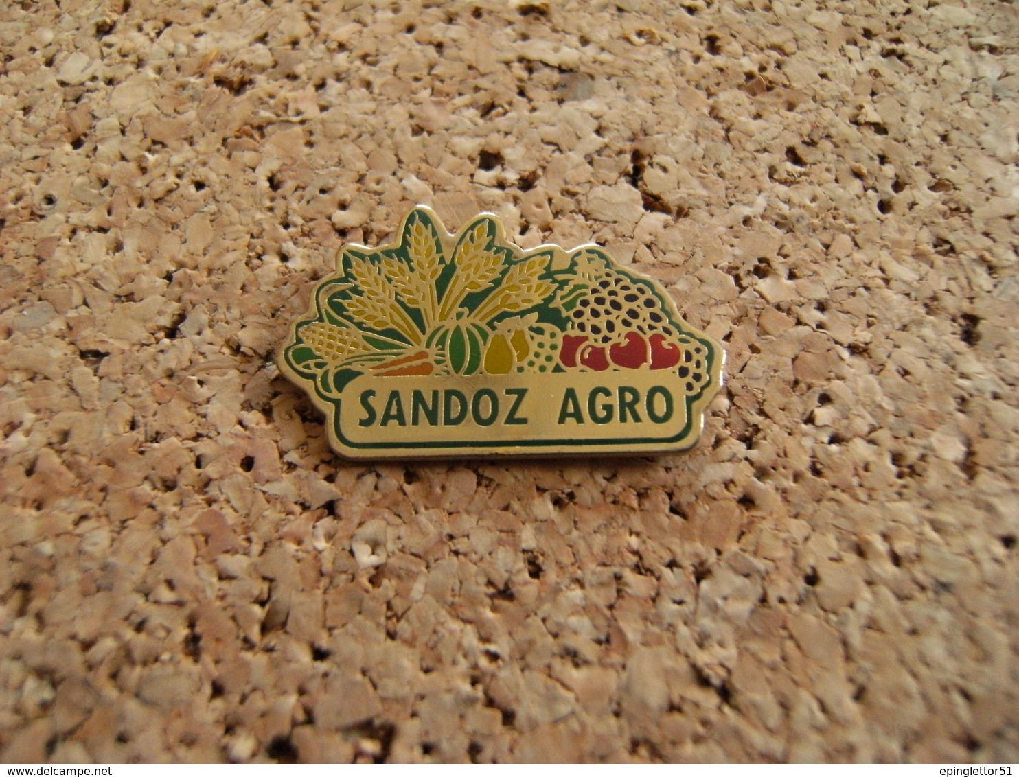 Pin's Agriculture Culture Céréales Fruiticulture Maraîchage Phytopharmacopée SANDOZ  AGRO époxy - Levensmiddelen