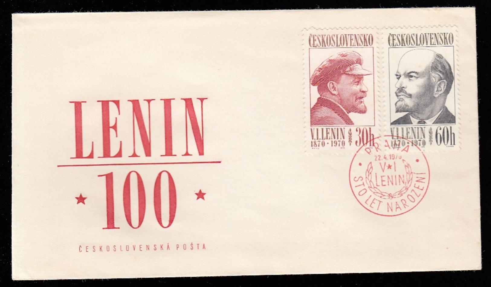CESKOSLOVENSKO * CZECHOSLOVAKIA * CZECH FDC 100th ANN. BIRTH OF LENIN 1970 - FDC