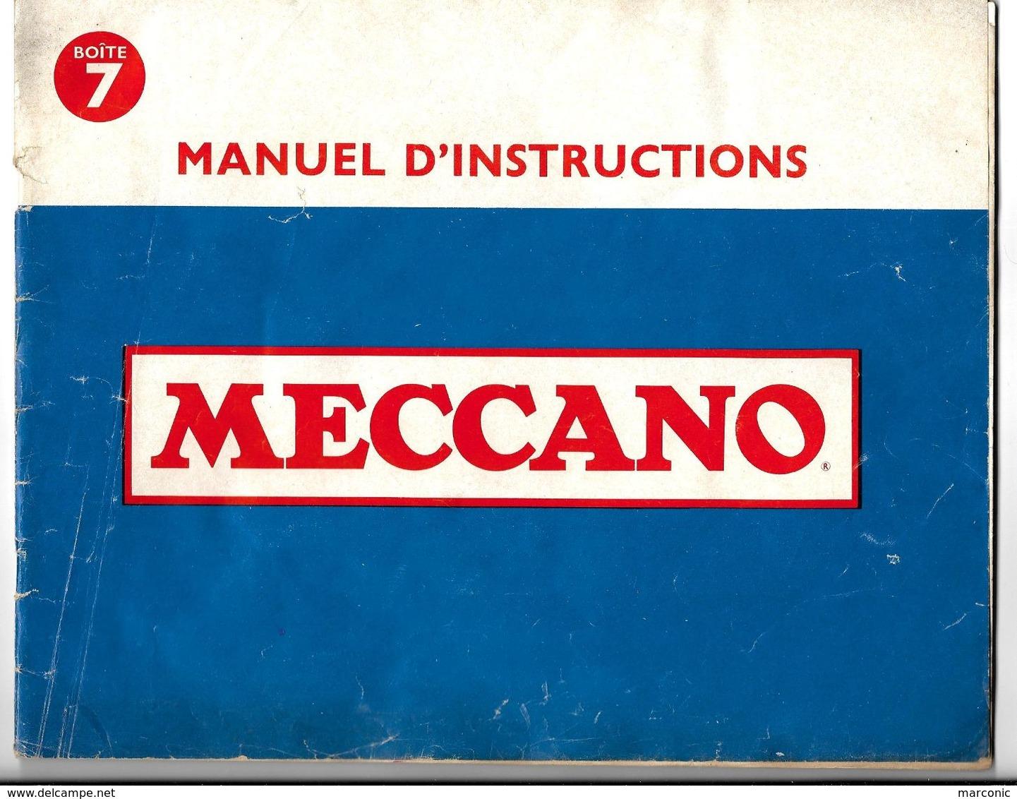 MANUEL D'INSTRUCTIONS  MECCANO - Boîte N° 7 - Meccano