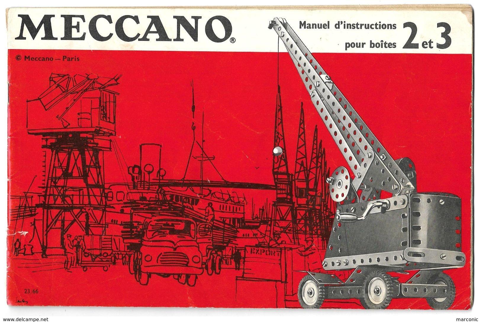MANUEL D'INSTRUCTIONS  MECCANO - Pour Boîtes 2 Et 3 - Meccano
