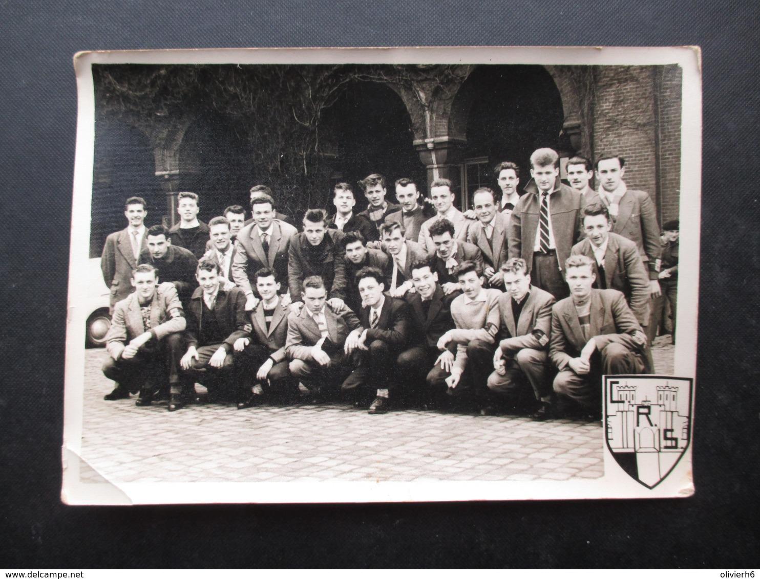 PHOTO GROUPE DE JEUNES  (M1801) CRS (1 Vue) Petit Château Bruxelles? - War, Military