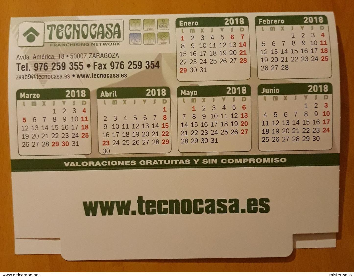 2018 CALENDARIO TAMAÑO MEDIANO. PUBLICIDAD TECNOCASA. - Tamaño Grande : 2001-...