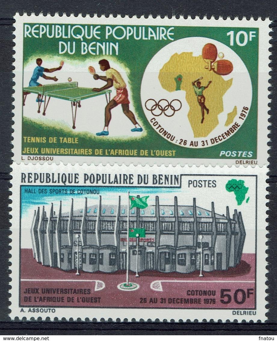 Benin, Academic Games, West Africa, Table Tennis, 1976, MNH VF   A Pair - Benin - Dahomey (1960-...)