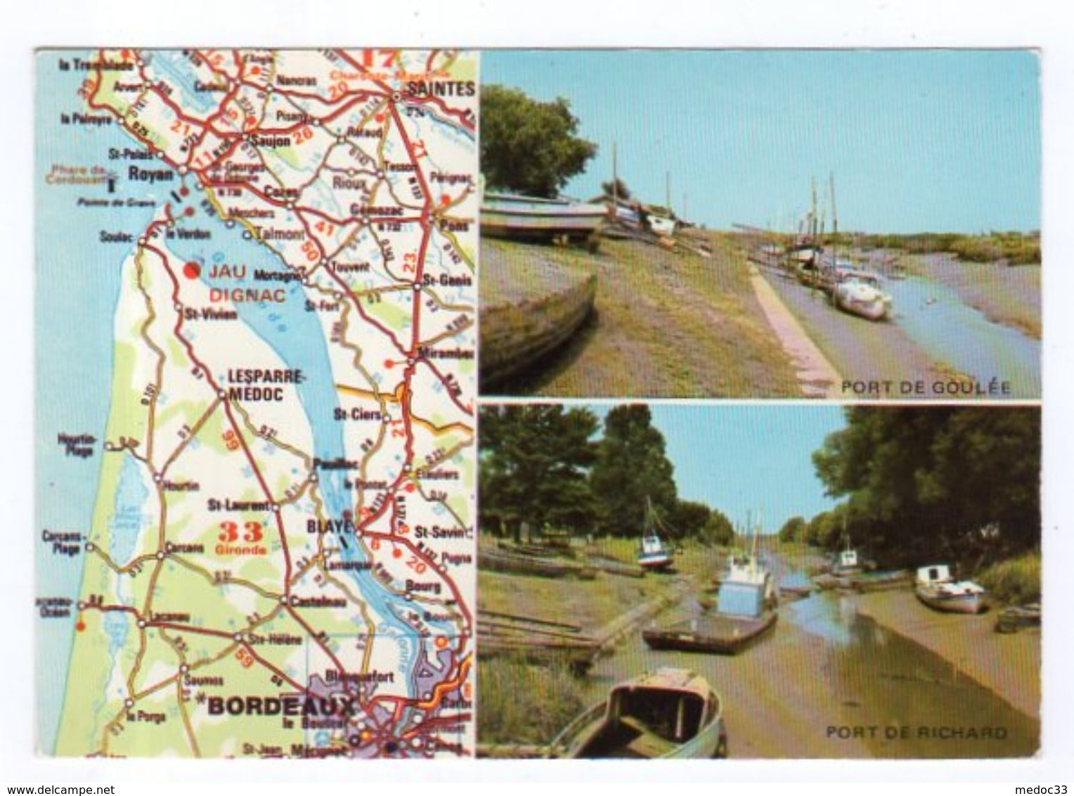 Dept 33,Gironde,Cpm Jau-Dignac-Loirac,Port De Goulée,Port De Richard - France