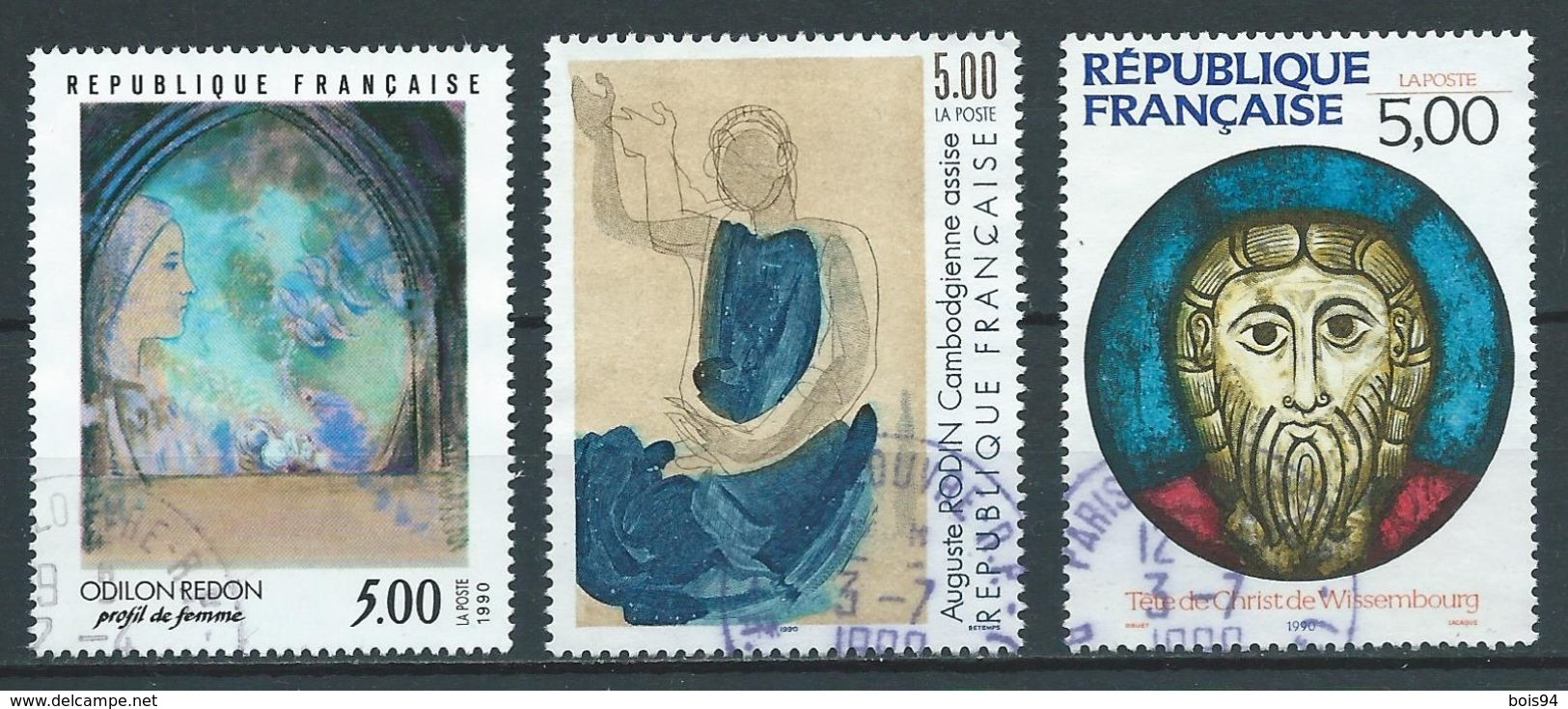 FRANCE 1990 . N°s 2635 , 2636 Et 2637 . Oblitérés . - France