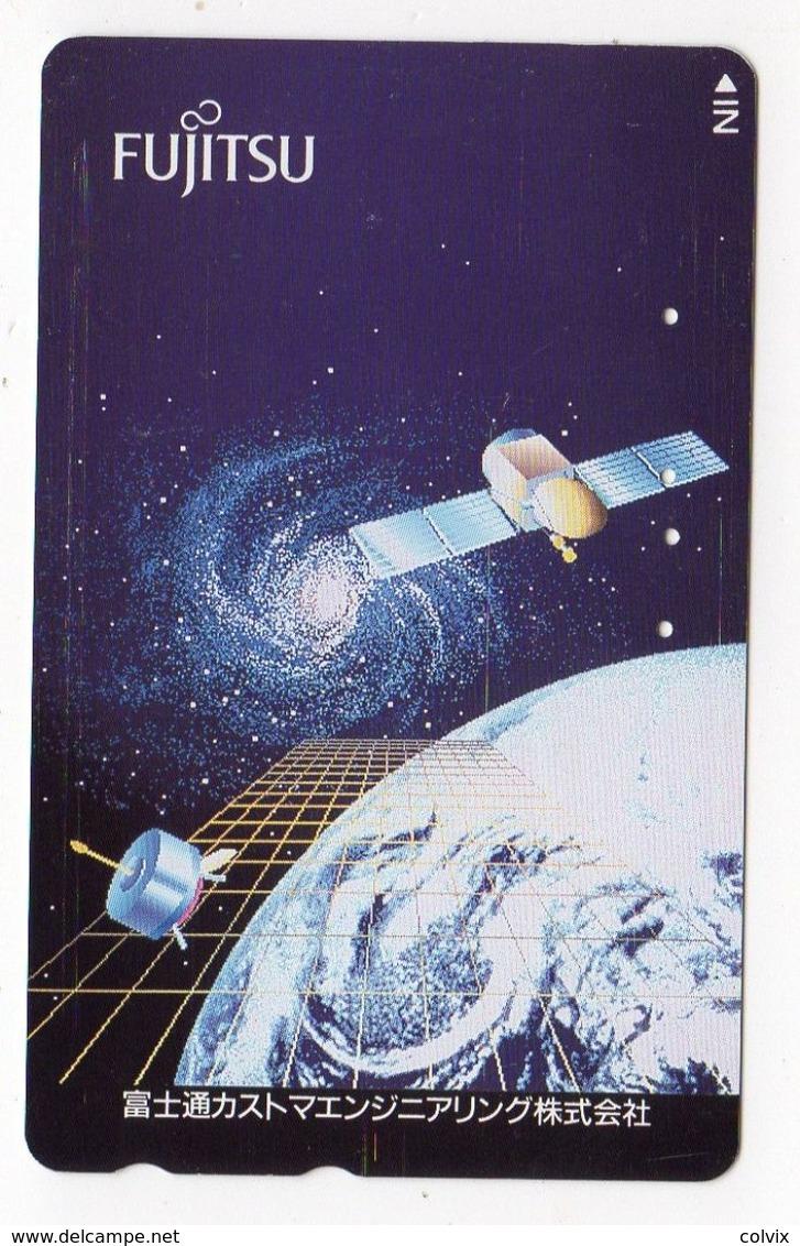 JAPON TELECARTE ESPACE SATELLITE - Astronomy