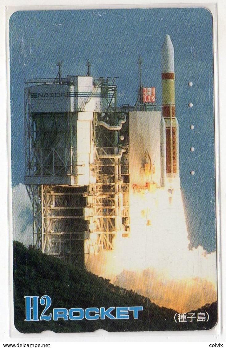 JAPON TELECARTE ESPACE FUSEE H2 ROCKET 1er Lanceur Japonais - Astronomy
