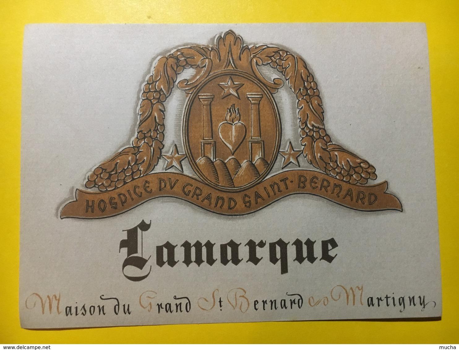 6551- Hospice Du Grand-Saint-Bernard Lamarque Martigny Suisse - Etiquettes
