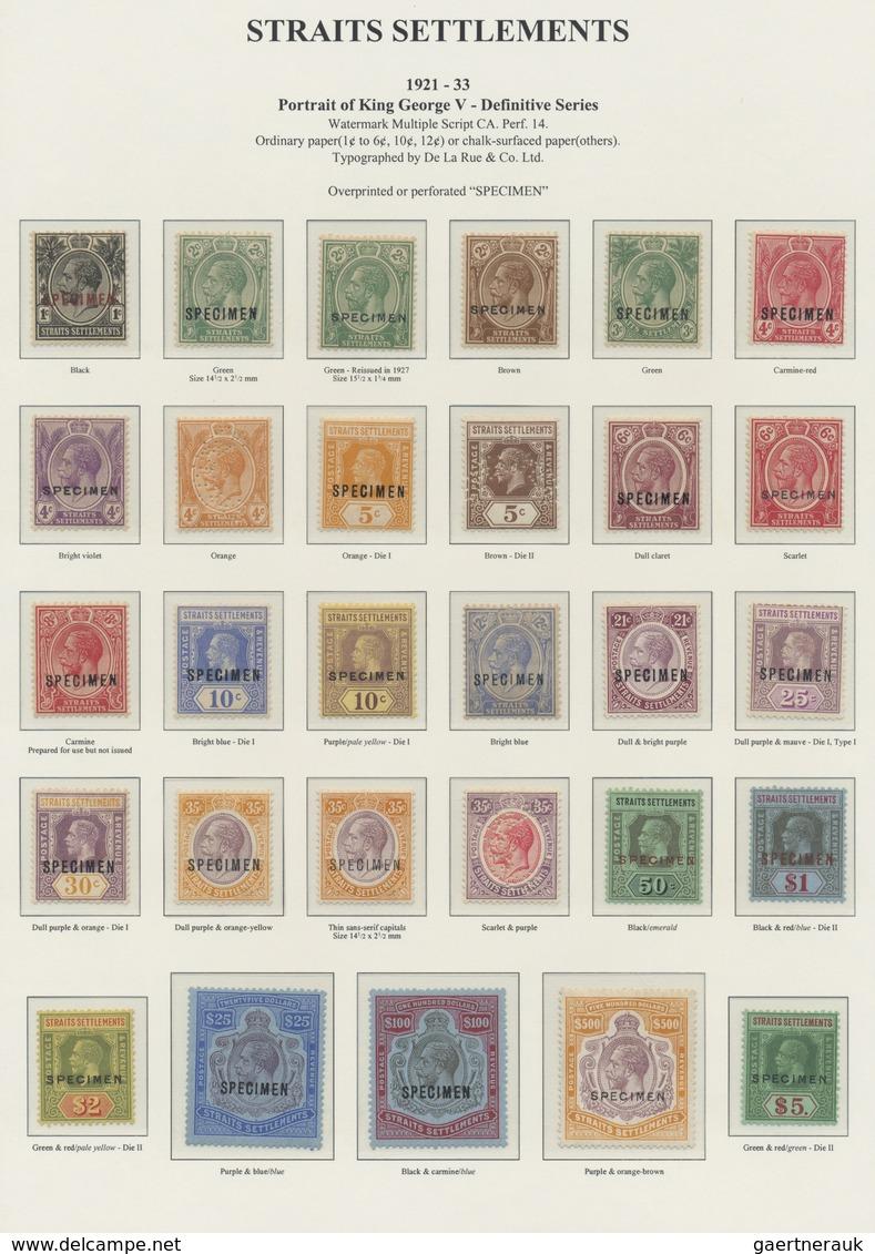 Malaiische Staaten - Straits Settlements: 1921-33 KGV., Watermark Mult Script CA, Complete Set Up To - Straits Settlements