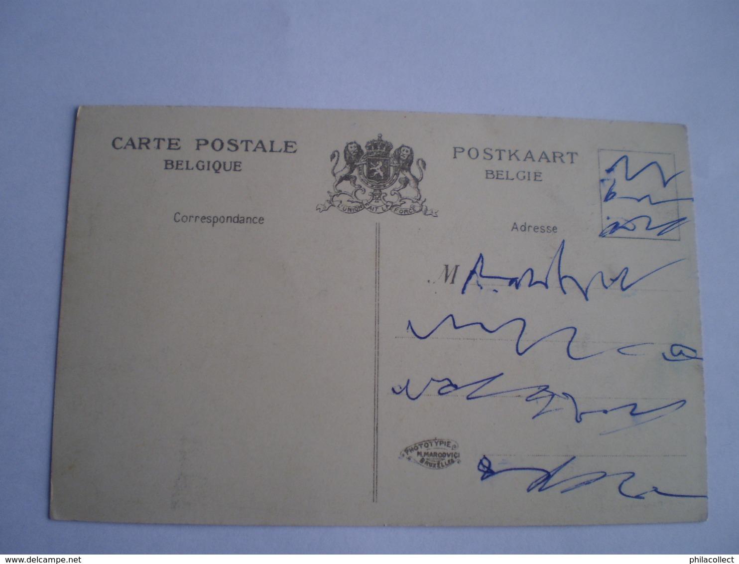 Hannuit - Hannut // Pensionnat Des Soeurs Du Saint Coeur De Marie (facade) 19?? INK Writing On Front ! - Hannuit