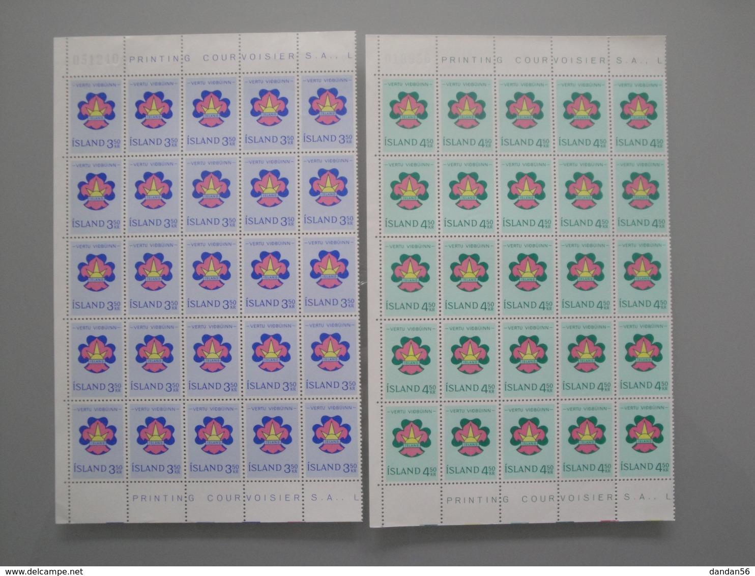 1964 Islande  Yv   333/4 X 25 **  Scout   Scott 360/1  Michel 378/9  Facit 415/6 - Collections, Lots & Séries