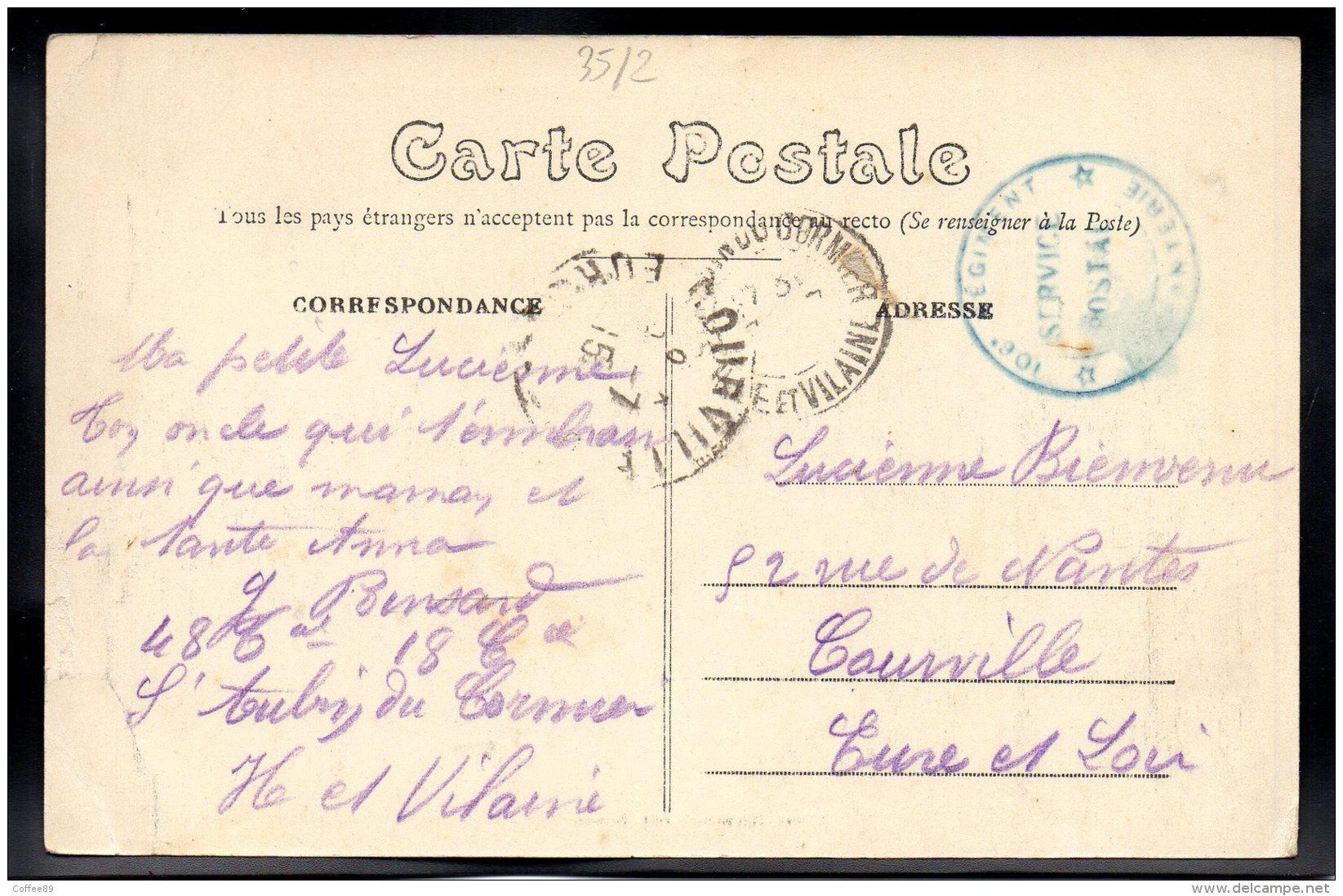 SAINT AUBIN DU CORMIER 35 - La Rue De La Garenne Et L'Eglise - Other Municipalities