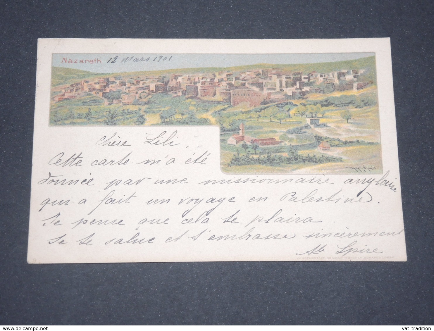 Carte Postale Colorée De Nazareth - Superbe Et Rare - Voyagée - P 22564 - Palestine