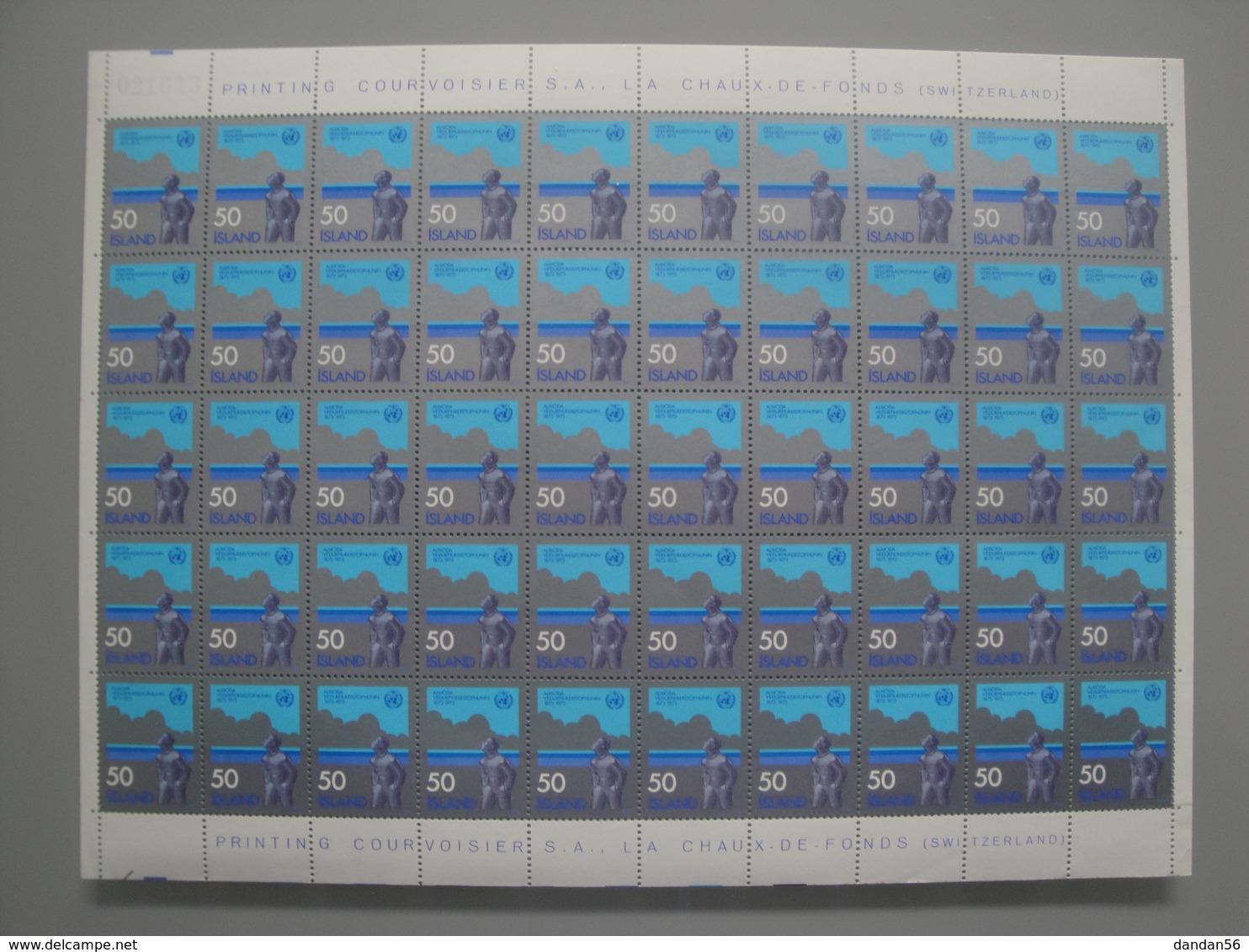 1973 Islande  Yv  437 X 50 ** Météorologie Scott 460  Michel 484 SG 515 Facit 521 - Islande