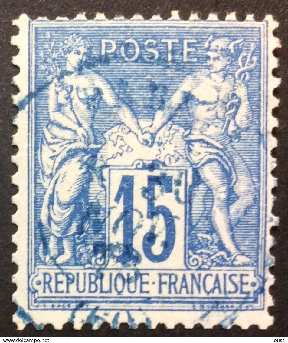15 C P14 Paris (60) BLEU - Marcophilie (Timbres Détachés)