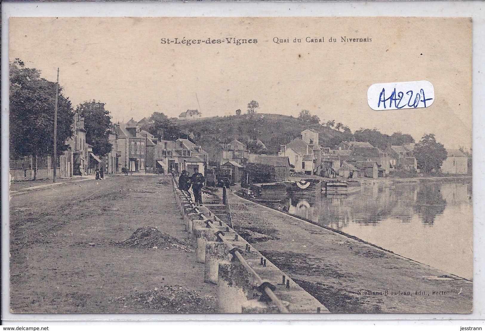 SAINT-LEGER-DES-VIGNES- QUAI DU CANAL DU NIVERNAIS - France