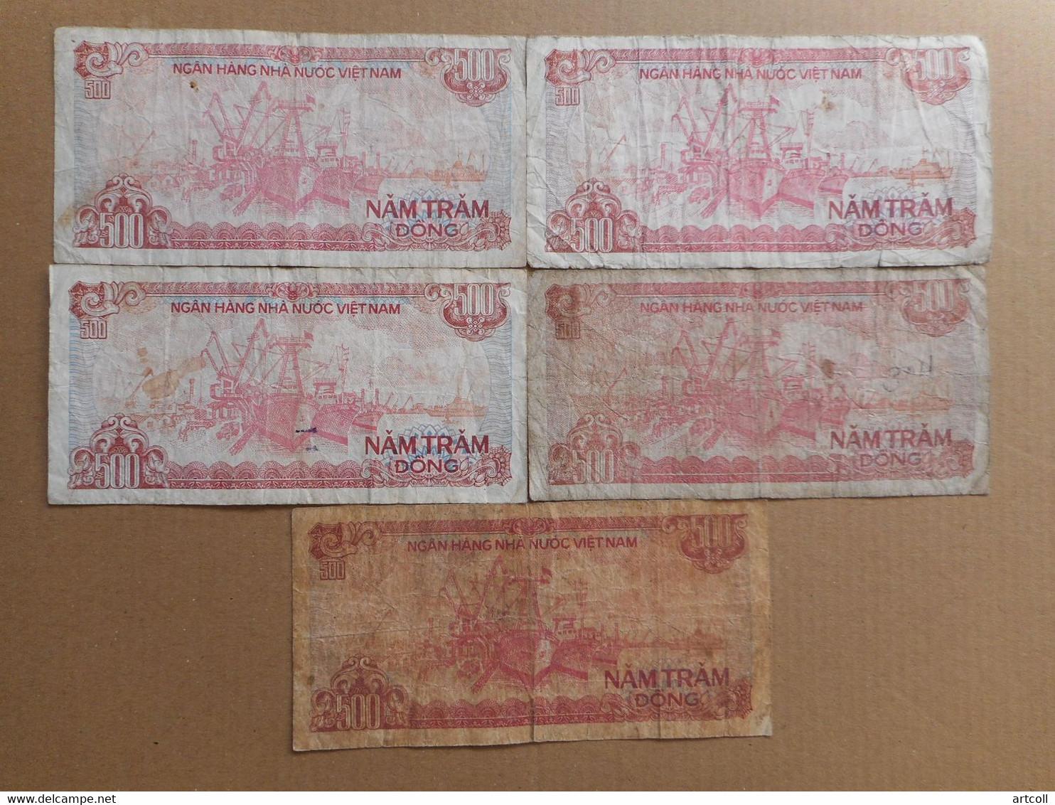 Vietnam 500 Dong 1988 (Lot Of 6 Banknotes) - Vietnam