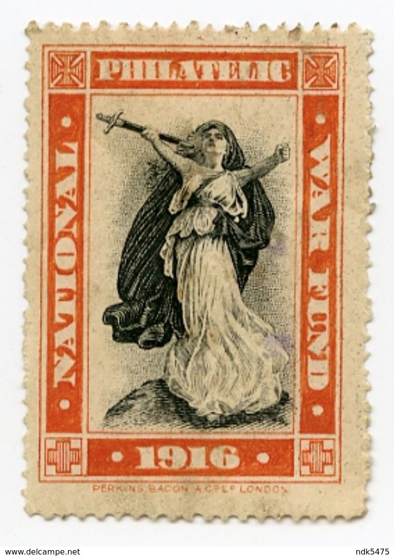 CINDERELLA : UK KING GEORGE V : NATIONAL PHILATELIC WAR FUND 1916 - Cinderellas