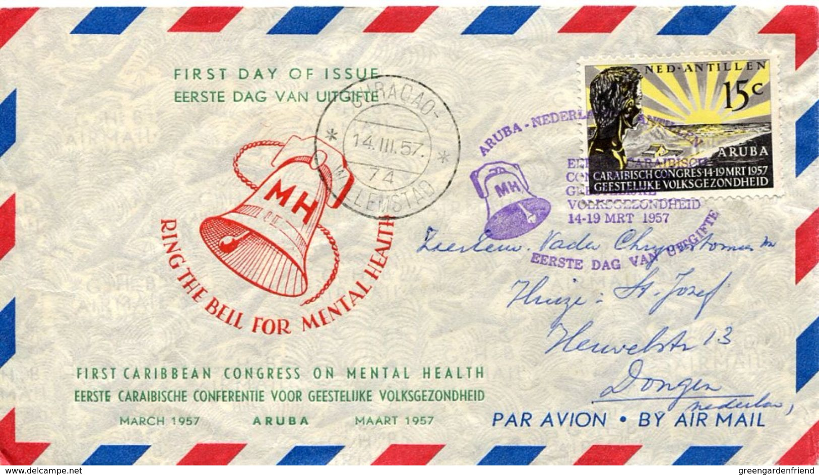 30106 Nederland Antillen,first Caribbean Congress On Mental Health Aruba 1957 - Antillen