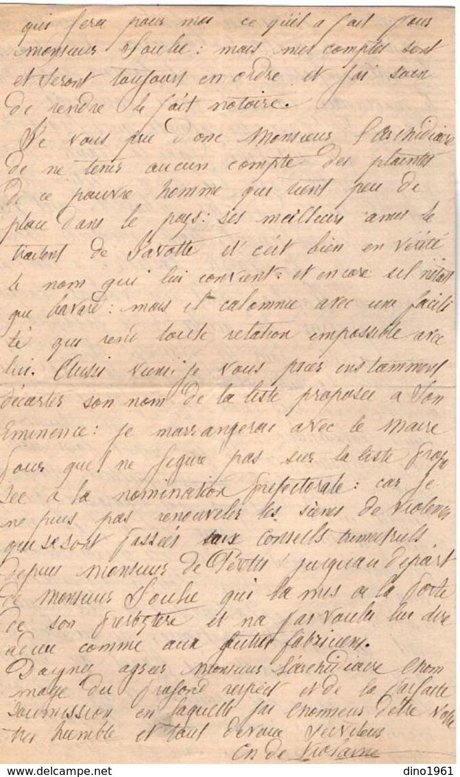 VP11.833 - Lettre De Mr Le Curé VIOLAINE à ISSY Pour Mr L'Archidiacre à PARIS - Manuscrits